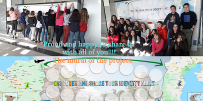 Placing the mural of the project
