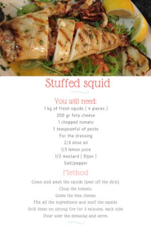 57.Stuffed squid