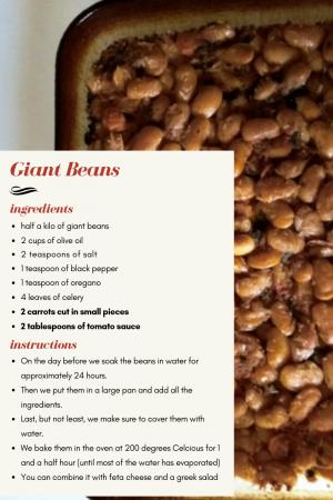 59.Greek recipe Giant beans